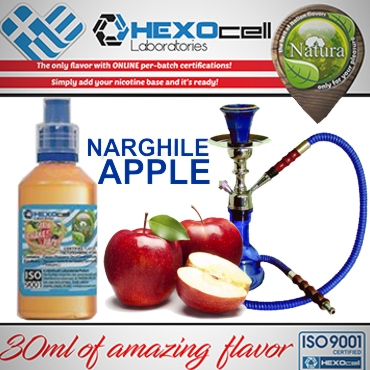 5487 - NATURA MIX SHAKE VAPE NARGHILE APPLE 30/100ML (ναργιλέ μήλο)