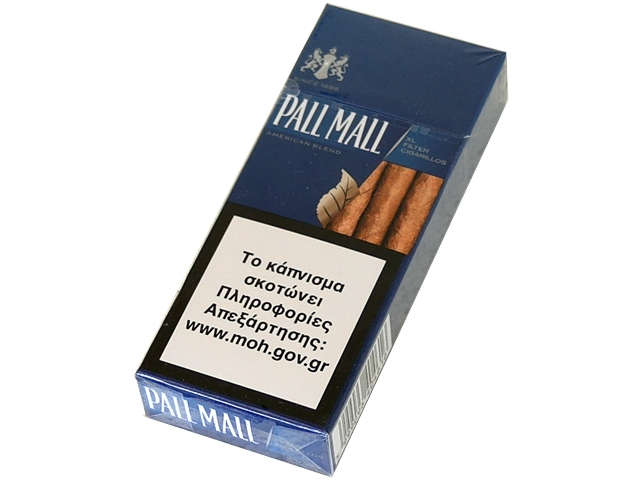 Cigarillos PALL MALL BLUE 10 XL FILTER (μπλε)
