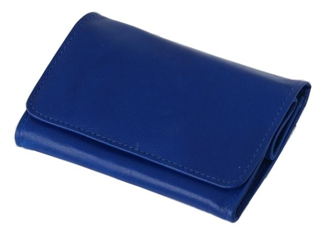 5569 - Καπνοσακούλα Rolling 44411-120 από γνήσιο δέρμα (μπλε μεσαίο πουγκί) δερμάτινη