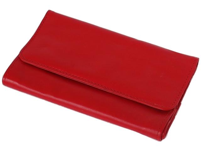 5584 - Καπνοσακούλα Rolling 44400-165 από γνήσιο δέρμα (κόκκινη μεγάλη) δερμάτινη
