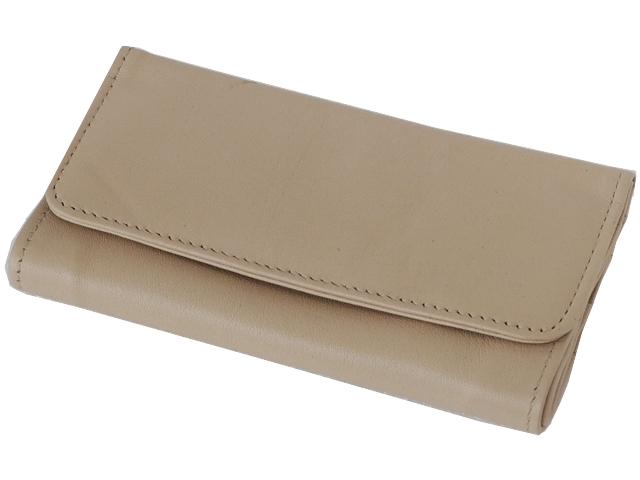 5585 - Καπνοσακούλα Rolling 44400-210 από γνήσιο δέρμα (μπεζ μεγάλη) δερμάτινη