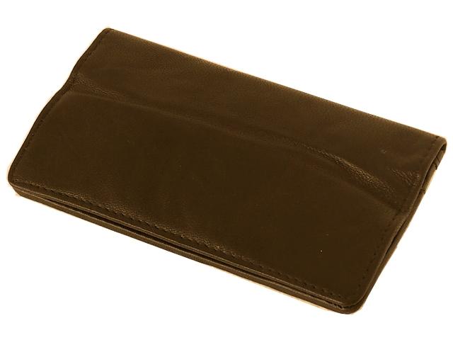 Καπνοσακούλα Rolling 44402-110 από γνήσιο δέρμα (καφέ με τρία φερμουάρ για σακουλάκι ή χύμα καπνό)