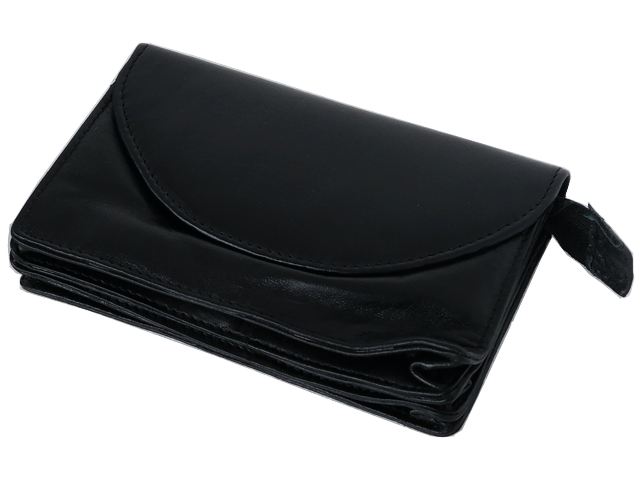 Καπνοσακούλα Rolling 44428-000 από γνήσιο δέρμα (μαύρο τσαντάκι) δερμάτινη