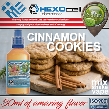 NATURA MIX SHAKE VAPE CINNAMON COOKIES 30/100ML (κανέλα μπισκότο)