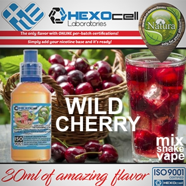 NATURA MIX SHAKE VAPE WILD CHERRY 30/60ML (αγριοκέρασο)