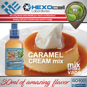 5612 - NATURA MIX SHAKE VAPE CARAMEL CREAM MIX 30/100ML (κρέμα καραμελέ)