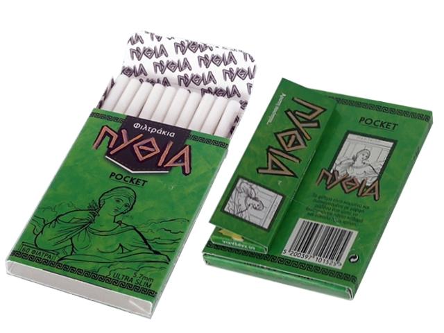 5643 - Φιλτράκια Πυθία POCKET ULTRA SLIM 5.7mm 60 & Χαρτάκια Πυθία πράσινα δώρο