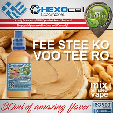 NATURA MIX SHAKE VAPE FEE STEE KO VOO TEE RO 30/60ML (φυστικοβούτυρο)