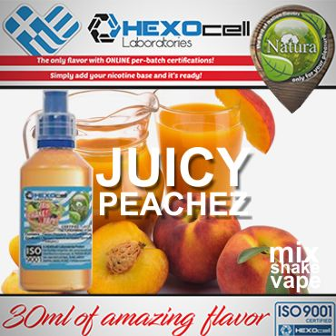 NATURA MIX SHAKE VAPE JUICY PEACHEZ 30/60ML (χυμός ροδάκινου)