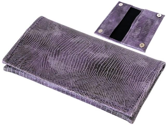 5734 - Καπνοθήκη SMOKA CARTO PURPLE SNAKE για καπνό χαρτάκια φιλτράκα και αναπτήρα