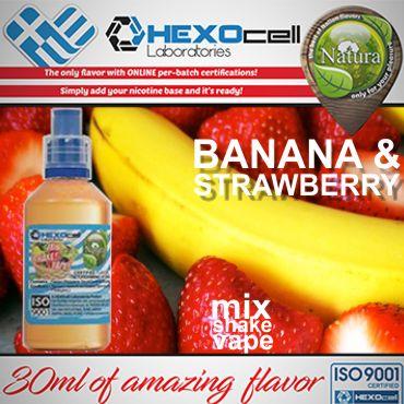 NATURA MIX SHAKE VAPE BANANA & STRAWBERRY ICE 30/100ML (μπανάνα, φράουλα και μέντα )