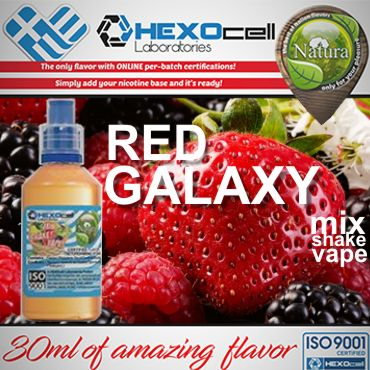NATURA MIX SHAKE VAPE RED GALAXY 30/100ML (φράουλα λεμόνι μέντα)