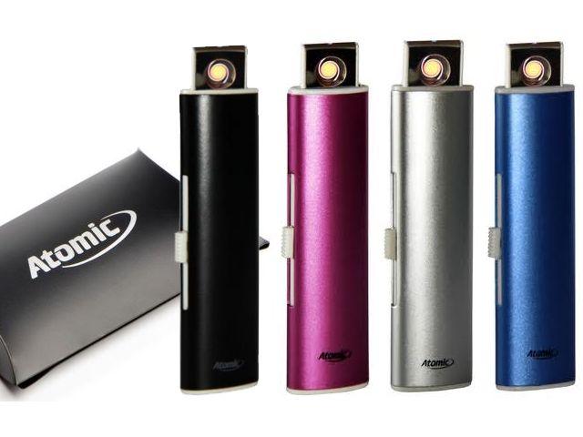 5813 - Αναπτήρας ATOMIC USB (μεταλλικός)