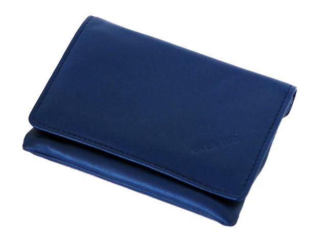5823 - Καπνοθήκη από γνήσιο δέρμα Over Top 10043 ELECTRIC BLUE (μεσαία που κλείνει με φερμουάρ) δερμάτινη
