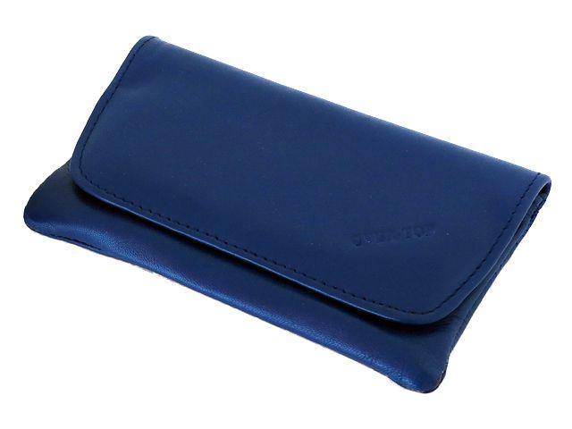 5824 - Καπνοθήκη από γνήσιο δέρμα Over Top 9901-Z ELECTRIC BLUE (μεσαία - μεγάλη)
