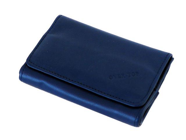 5825 - Καπνοθήκη από γνήσιο δέρμα Over Top 10025 Z ELECTRIC BLUE (μικρή με διπλό άνοιγμα)