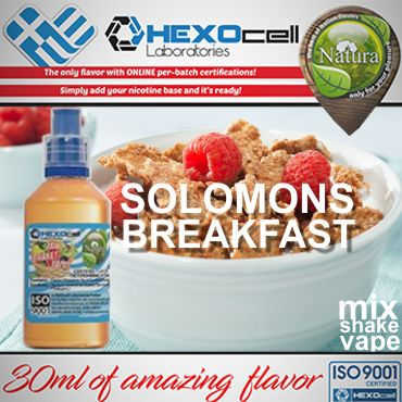 NATURA MIX SHAKE VAPE SOLOMONS BREAKFAST 30/60ML (δημητριακά με διάφορα κόκκινα φρούτα)