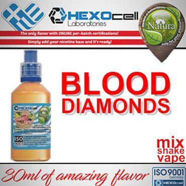 NATURA MIX SHAKE VAPE BLOOD DIAMONDS 30/60ML (βανίλια και βατόμουρο)