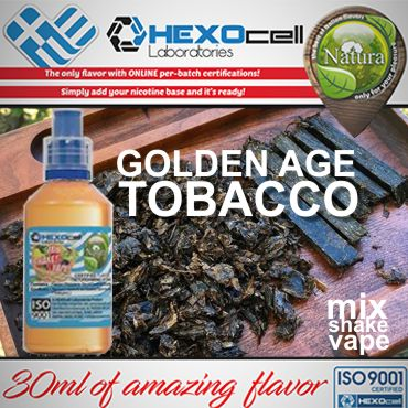 NATURA MIX SHAKE VAPE GOLDEN AGE TOBACCO 30/60ML