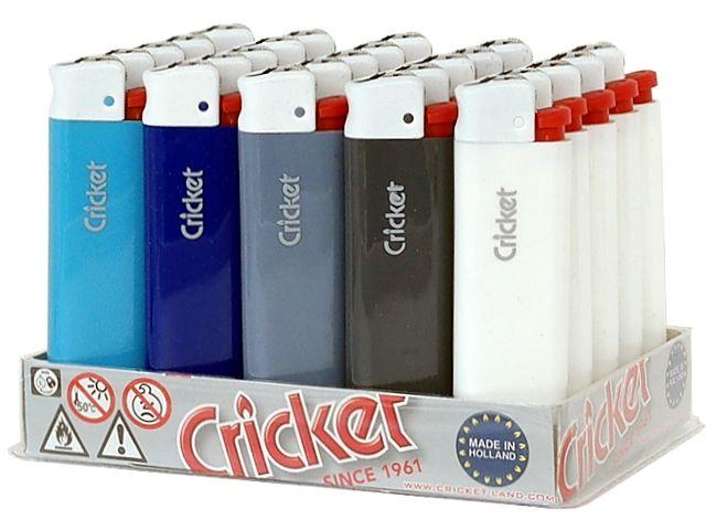 5903 - Κουτί με 25 αναπτήρες Cricket ORIGINAL NAVY GREECE LB 21125148 (μεγάλος)