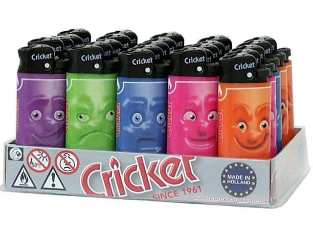 Κουτί με 25 αναπτήρες Cricket MINI CR FACES LB 22125236