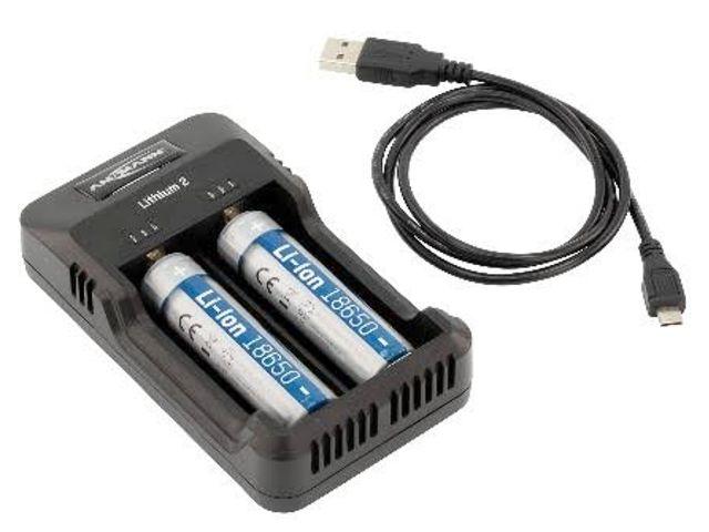 5910 - Φορτιστής ANSMANN LITHIUM 2 (για μπαταρίες 26650 / 18650)