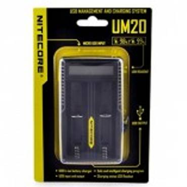 6123 - Φορτιστής Nitecore Intellicharger UM20 LCD Li-on Battery Charger