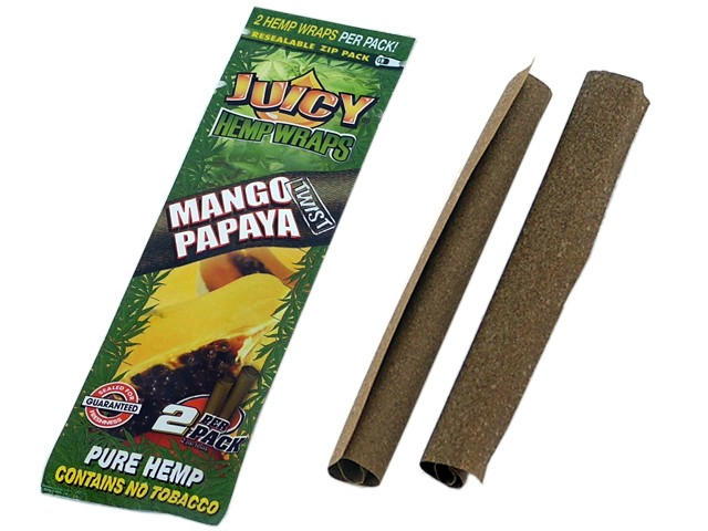 Juicy Hemp Wraps MANIC Mango Papaya Twist (με 2 πουρόφυλλα)