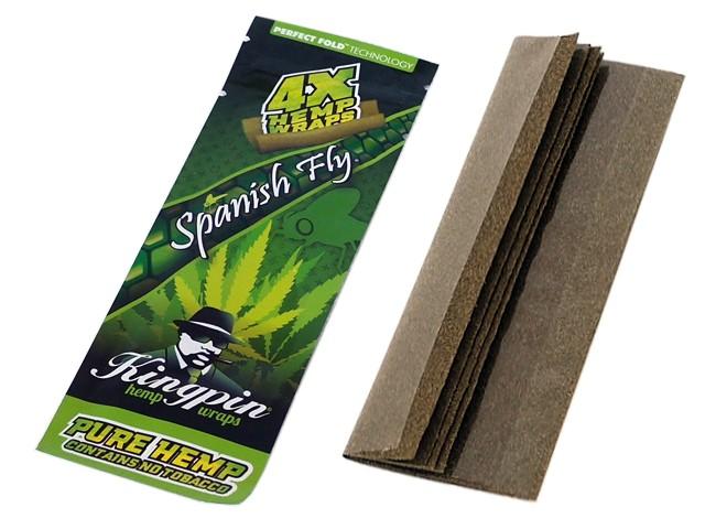 6134 - Kingpin Hemp Wraps Spanish Fly (με 4 πουρόφυλλα) κάνναβη