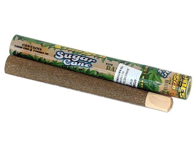 6136 - Cyclones SUGAR CANE Pre Rolled Pipe Hemp Cone (ζαχαροκάλαμο)