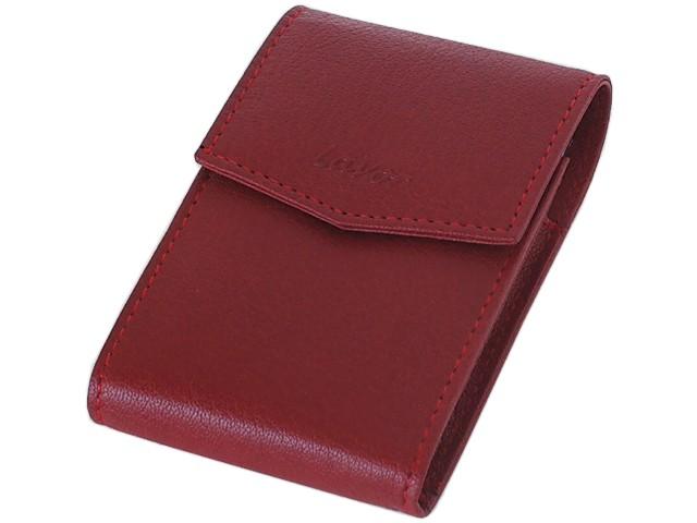 6147 - Θήκη για πακέτο SLIM τσιγάρα LAVOR 1-3892 RED (γνήσιο δέρμα)