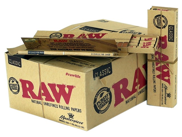 Κουτί με 24 RAW CONNOISSEUR Classic KING SIZE SLIM + PRE ROLLED TIPS
