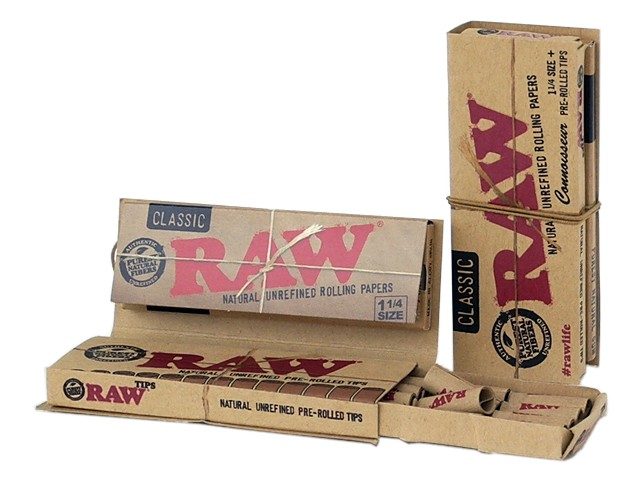 RAW CONNOISSEUR Classic 1 1/4 SIZE + PRE ROLLED TIPS