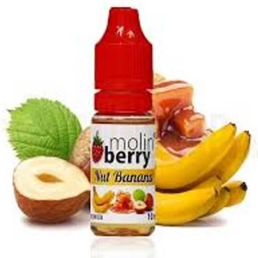 6358 - Άρωμα MolinBerry NUT BANANA 10ml (μπανάνα, φουντούκι και καραμέλα)