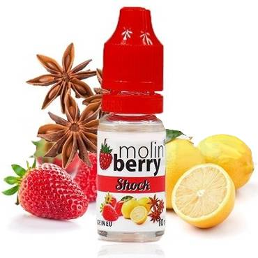 6366 - Άρωμα MolinBerry SHOCK 10ml (φράουλα, λεμόνι και γλυκάνισο)