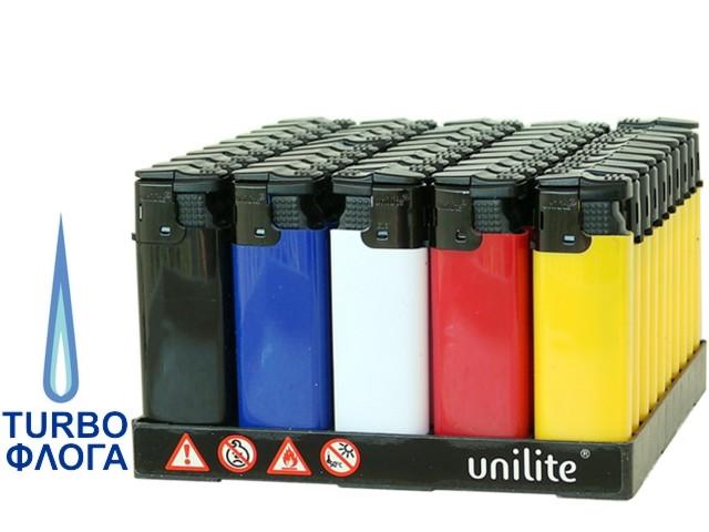 6432 - Κουτί με 50 αντιανεμικούς αναπτήρες UNILITE U201 TURBO 11231-01