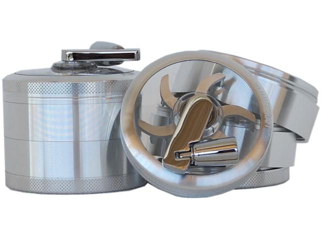 Τρίφτης καπνού GRINDER HAMMERCRAFT MILL SILVER by CNC 65mm 12663 (αλουμίνιο)