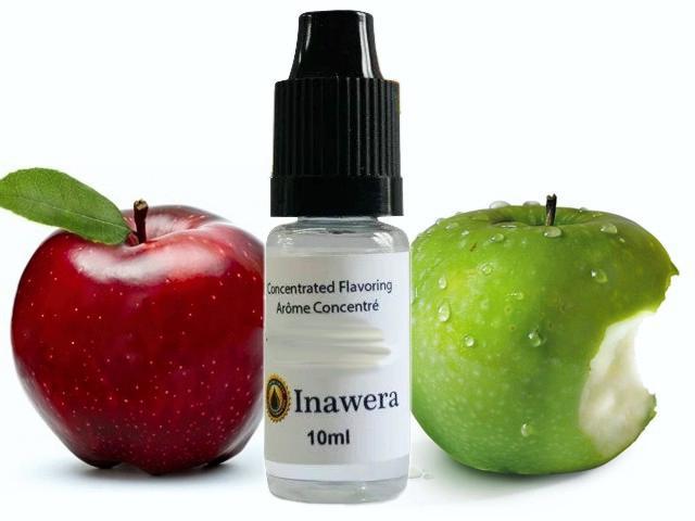 6496 - Άρωμα inawera TWO APPLES 10ml (πράσινο και κόκκινο μήλο)
