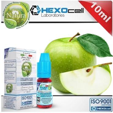 6582 - Υγρό αναπλήρωσης Natura GREEN CRUNCH GREEN APPLE από την Hexocell (πράσινο μήλο) 10 ml