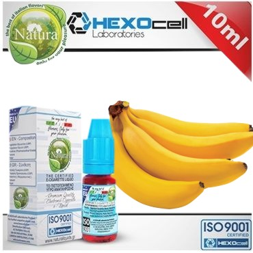 Υγρό αναπλήρωσης Natura YELLOW MONKEYS BANANA από την Hexocell 10 ml (μπανάνα)