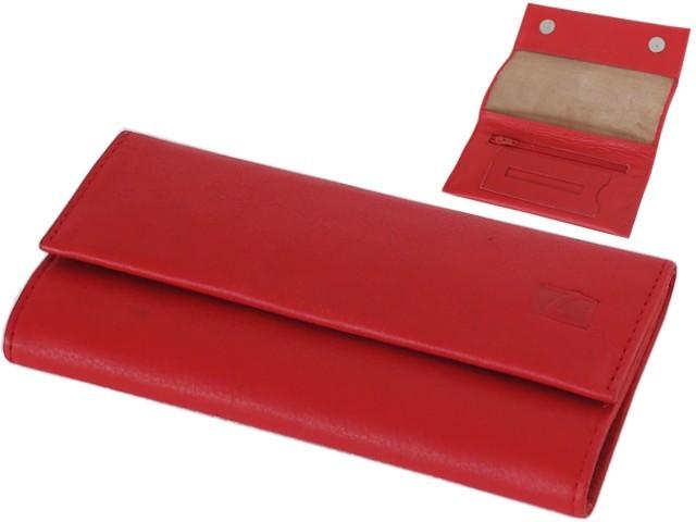 6604 - Lavor 1-31984 κόκκινη (για άδειασμα καπνού ή σακουλάκι καπνού) δερμάτινη καπνοθήκη