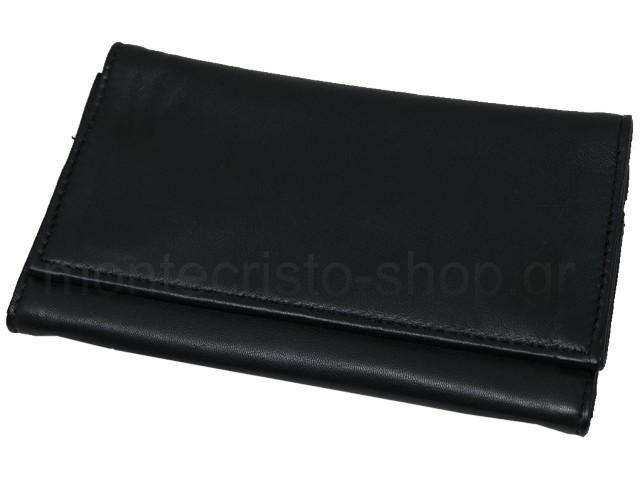 6820 - Καπνοθήκη του παππού Rolling 44400-040 από γνήσιο δέρμα (μεγάλη για άδειασμα & για σακουλάκι καπνού)
