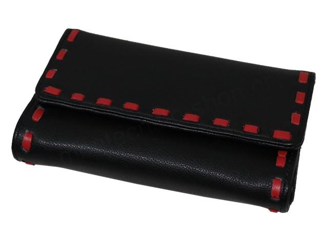 6825 - Καπνοθήκη του παππού Rolling 44407-030 (μαύρη μεσαία για χύμα καπνό ή σακουλάκι καπνού) δερματίνη