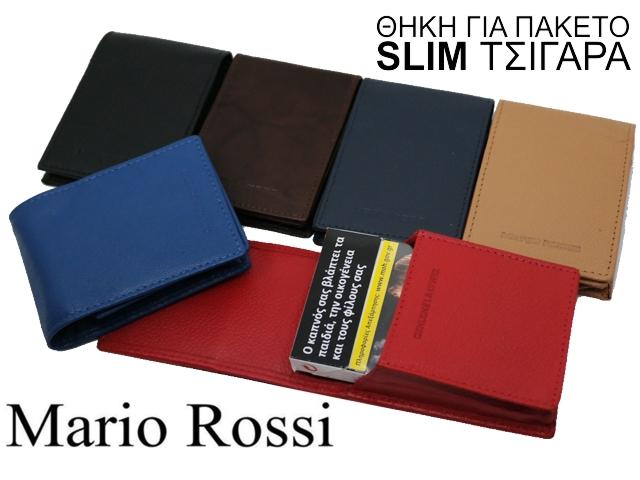 6848 - Θήκη για πακέτο SLIM τσιγάρα MARIO ROSSI 283 (γνήσιο δέρμα)