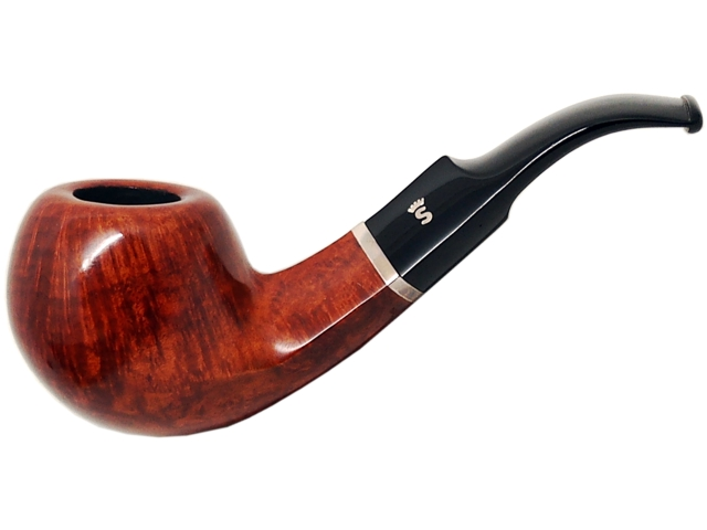 6963 - Stanwell Pipe Sterling 15 Brown 9mm Pol. πίπα καπνού κυρτή