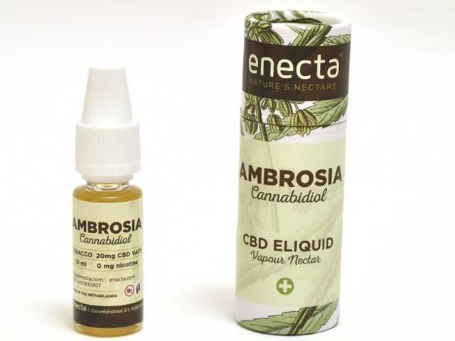 6985 - Υγρό αναπλήρωσης Ambrosia by Enecta TOBACCO 20mg CBD (Κανναβιδιόλη) 10ml