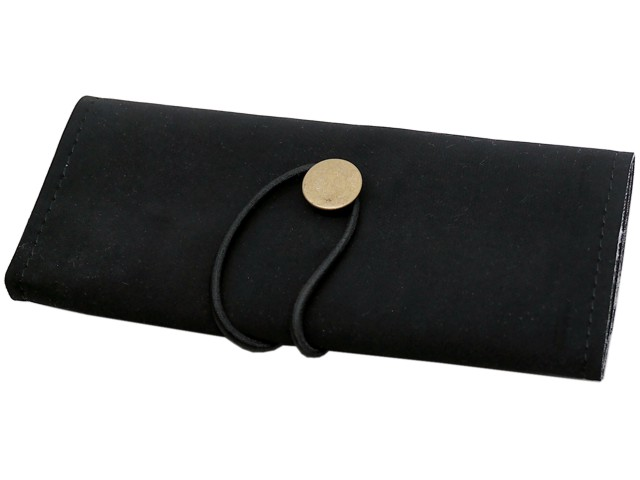 7114 - Καπνοθήκη του παππού 44606-210 BLACK (για σακουλάκι καπνού) δερματίνη