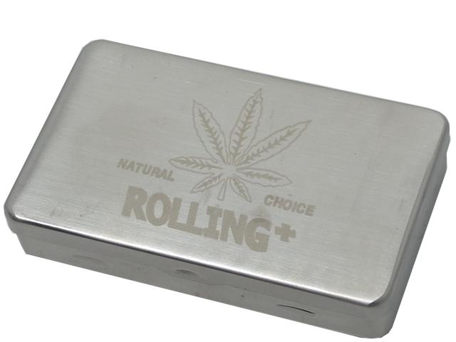 7154 - Μεταλλική θήκη για καπνό ROLLING 47312 (κάνναβη)