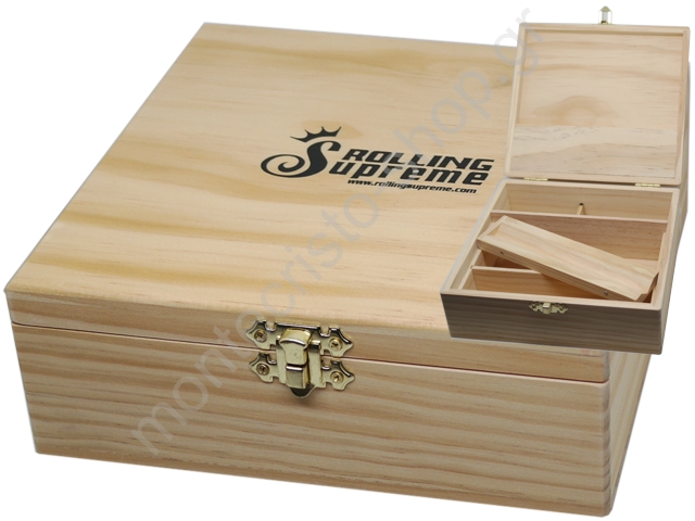 7186 - Rolling Box Rolling Supreme ξύλινο για στριφτό large 13142
