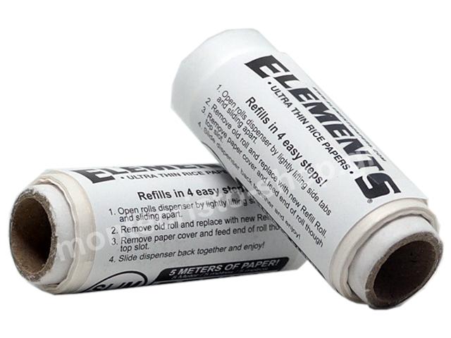 7238 - ΑΝΤΑΛΛΑΚΤΙΚΟ ΡΟΛΟ ELEMENTS REFIL ULTRA THIN SINGLE WIDE RICE PAPERS (40mm x 5 μέτρα)
